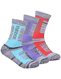 YUEDGE Women's Performance Wicking Cushion Crew Socks For Outdoor Sport Hiking