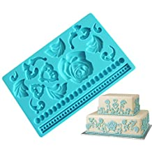 Colybecation Creative Cake Rose Decorations Silicone Fondant Mold Cake Decorating Lace Mat Chocolate Mold Sugar Craft Silicone Fondant Cake Top Decorations
