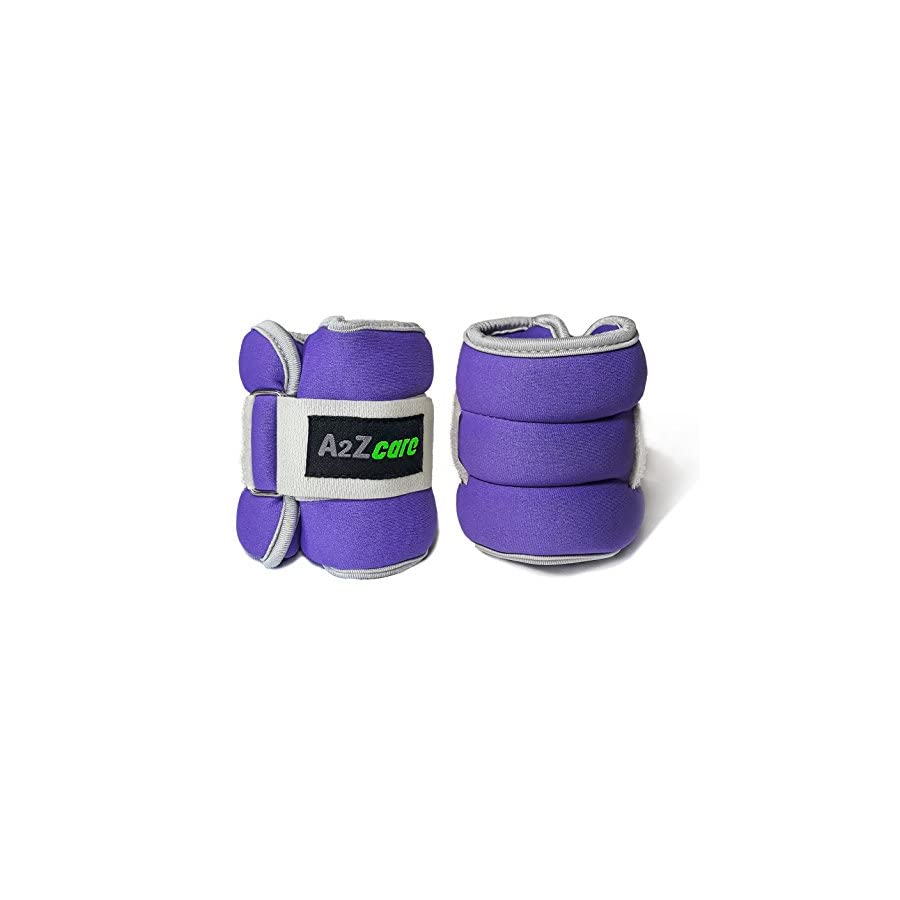A2ZCARE Adjustable Ankle/Wrist Weights for Men and Women A Comfortable Leg Weights Set for Gymnastics, Exercise, Fitness, Walking (Sold in Pair | 6 lbs, 8 lbs, 10 lbs)