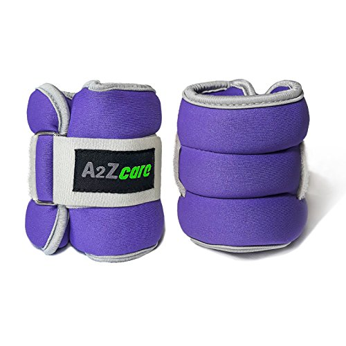 A2ZCare Adjustable Ankle/Wrist Weights for Men and Women (2lb, 4lb, 6lb, 8lb, 10lb) A Comfortable Leg Weights Set for Gymnastics, Exercise, Fitness, Walking