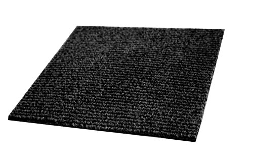 Price comparison product image IncStores Berber Carpet Tiles,  Black,  20 per pack