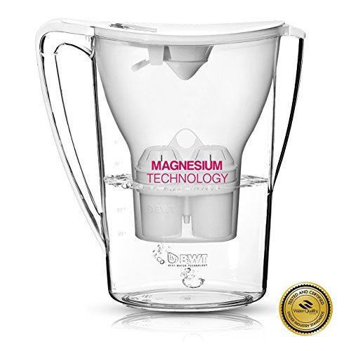 BWT Award Winning Austrian Quality Water Filter Pitcher, Patented Magnesium Technology for Superior Filtration and Taste (Glacier White) (Best Water Filter Pitcher)