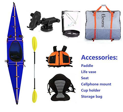 Elevens Cruise Plus Foldable and Portable Kayak (Dark Blue