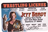 Jeff Hardy Wrestling Novelty Drivers License (Hhh) / Fake I.d. Identification for the WWF WCW WWE Fan