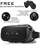IRUSU PLAY VR Headset - with Remote - UPGRADED 42MM Fully Adjustable virtual reality lenses with FREE Bluetooth remote and Magnetic Clicker - VR glasses with HD Resin lenses .Virtual Reality glasses Works with leading mobile brands like Apple iphone 6 and plus, Samsung, Xiaomi,Lenovo,Oneplus,Moto, LG, nexus,Google Pixel,LeEco le2 and other mobiles with gyroscope.Experience 360 videos, 3D and VR games like never before.