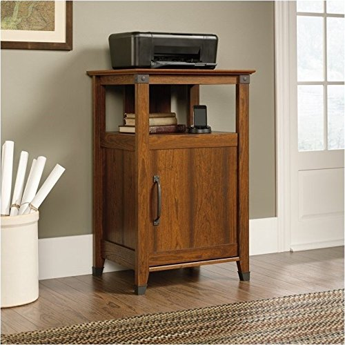 Sauder Carson Forge Technology Pier Free Standing Cabinet, Washington Cherry Finish (Office Furniture Printer Stand)