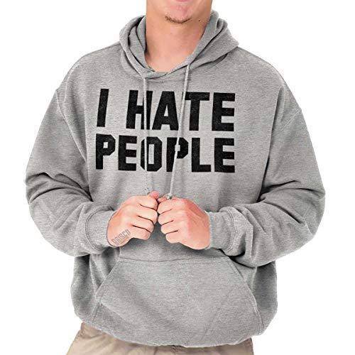 Brisco Brands I Hate People Antisocial Humor Introvert - Hate Hoodie I People