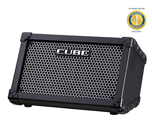 Roland CUBE-ST Cube Street Battery-powered Guitar Combo Amplifier Black with 1 Year Free Extended Warranty
