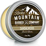 Beard Balm - Sandalwood Blend Canadian Made - with Bees Wax, Jojoba, Shea Butter, Coconut Oil