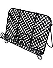 OwlGift Vintage Metal Cookbook Stand, Decorative Recipe Holder for Kitchen, Coffee, Tablet Placement Storage Rack – Black
