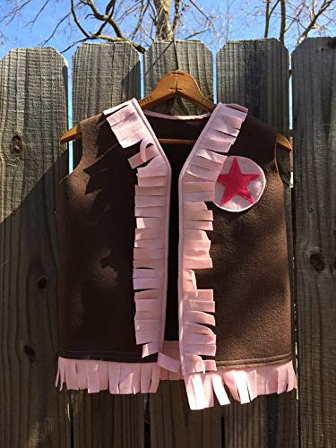 western dress up vest cowgirl sheriff costume toddler child kids birthday party theme role play dramatic photo prop size 1 2 3 4 5 6