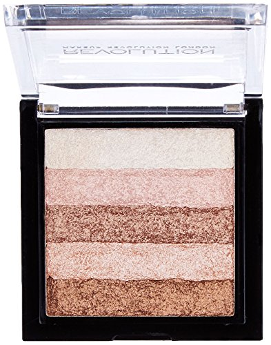 Makeup Revolution Vivid Shimmer Brick Bronzer Highlighter, Radiant