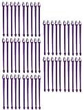 MPP 50 Pack Dual End Pet Toothbrushes Bulk Vet Dog Rescue Shelter Choose Color (Purple)