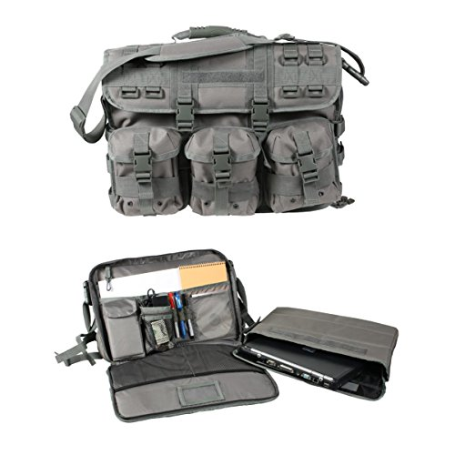 Rothco Molle Tactical Laptop Bag/Briefcase with Strap & Handle, Foliage Green
