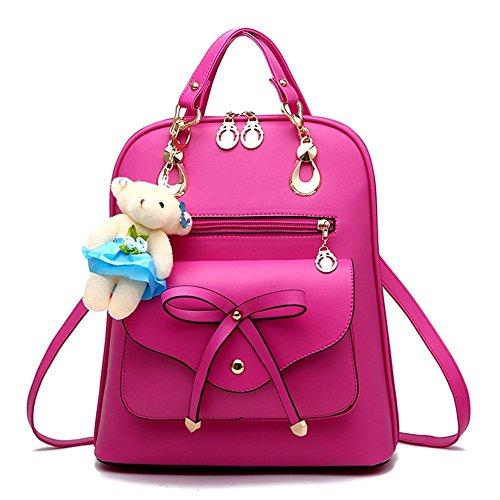 Fayland Women Teens Girls Leather Backpack Purse Satchel Shoulder School Bags College Roser
