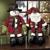 Dangle-Leg Santa & Snowman - Party Decorations & Room Decor