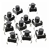 6x6x6mm Momentary Push Button Switch 10 pack - 4Pin DIP Micro PCB tactile