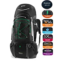 Terra Peak Adjustable Hiking Backpack for Mountaineering with Rain Cover 85L+20L