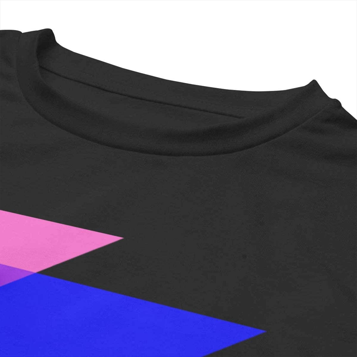 VANMASS Womens Crop Tops Pride Triangles in Pride Flag Colors Short Sleeve T-Shirts