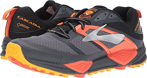 Brooks Men's Cascadia 12 GTX¿ Black/Ebony/Cherry Tomato 10 D US