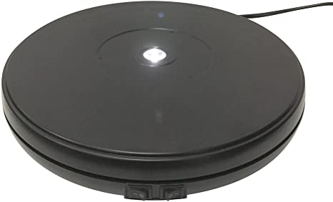 """fotoconic Black Electric Motorized Rotating Turntable Display Stand with LED 10/"""""""
