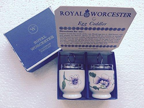 Royal Worcester Egg Coddler Pair Astley Pattern Lavender ...