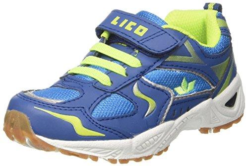 Lico Unisex-Kinder Bob Vs Hallenschuhe Blau (Blau/Lemon)