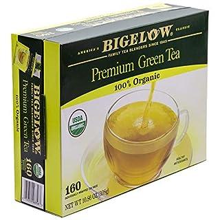 Bigelow Premium Organic Green Tea, 160 Count Box, Individually Wrapped Bags-SET OF 3