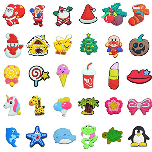 30 Pcs Different Lovely PVC Shoe Charms for Crocs & Bands Bracelet and Gifts