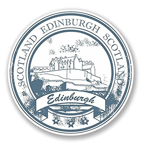 3 Pack - Edinburgh Scotland Vinyl Sticker Decal - Sticker Graphic - Construction Toolbox, Hardhat, Lunchbox, Helmet, Mechanic, Luggage