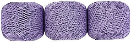 Lace thread # 40 Col.118 Purple system 50 g 412 m 3 ball set by Yokota