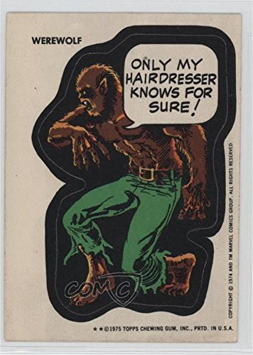 Werewolf Ungraded COMC Good to VG-EX (Trading Card) 1975 Topps Marvel Comic Book Heroes - [Base] - White Back #WERE - Card Marvel Comic Book