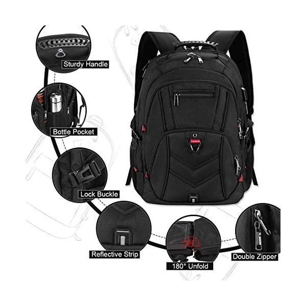 Zaino Porta PC Zaini Lavoro Uomo Notebook Laptop Borsa 17 17,3 Pollici Impermeabile con USB Zainetto da Viaggio Scuola… 4 spesavip