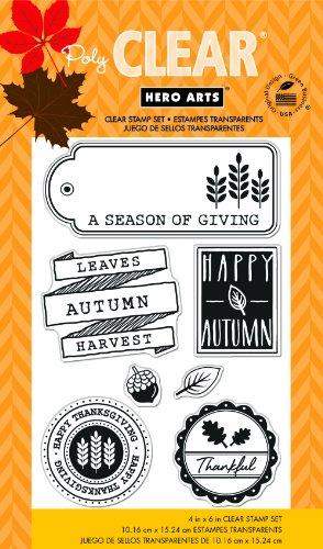 Hero Arts Leaves Autumn Clear Stamps - Leaves Autumn Acrylic Stamps Clear