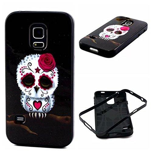 S5 Mini Case,Samsung S5 Mini Case,S5 Mini Hybrid Case,S5 Mini Case Cover,Case For S5 Mini,Canica Cartoon Print Hybrid Back Case Cover For Samsung Galaxy S5 Mini G800F G800H 004