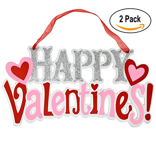 Happy Mothers Day Sign (Valentines Day Sign 2 Pack Party Decorations; 6