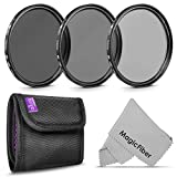 77MM Altura Photo Neutral Density Professional Photography Filter Set (ND2 ND4 ND8).