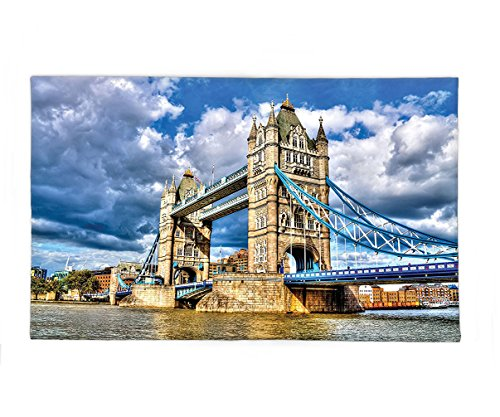 Interestlee Fleece Throw Blanket London Decor Historical Tower Bridge on the River London Uk British Day Time International Heritage Photo (7 Dwarfs Costumes Uk)