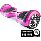 UL2272 Certified Smart Self Balancing Hoverboard Personal Adult Transporter with LED Light- Pink
