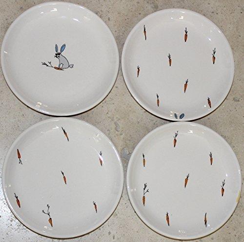 Jack's Carrots Designer Collection by Magenta 6-1/8'' Canape/Dessert/Appetizer plates - Set of 4