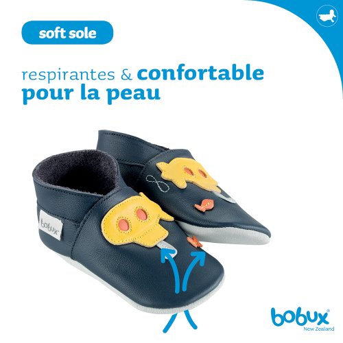 Bobux Chaussure Bébé - Gants Tracteur Vert - Taille 2 XL