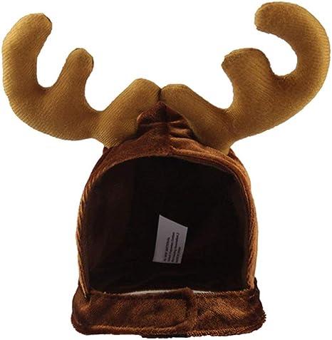Amosfun Disfraz de Reno Lindo de Mascota de Halloween Sombrero ...