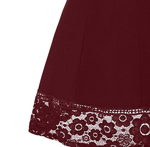 U8Vision - Vestido - Noche - para mujer Wine Rot