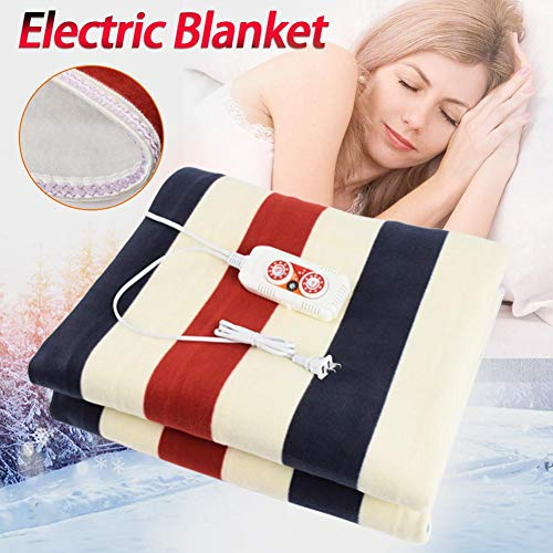 Heated Mattress Pad Heated Throw Blanket Electric Blanket Temperature Control with 3 Heat Settings Auto Shut Off Sensor Safe Overheat Technology 220V for Home School Students
