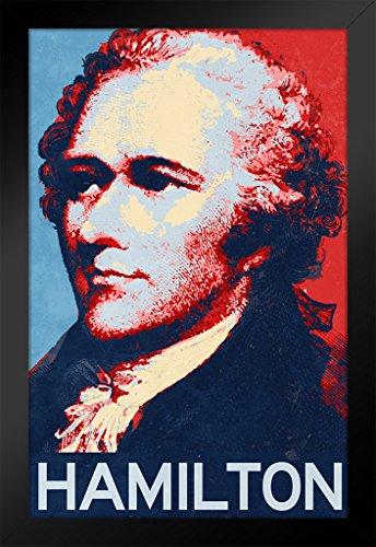 Alexander Hamilton Hope Style Art Print Framed Poster 14x20 inch
