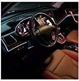 Ramanta™ EL Wire Car Interior Light Ambient Neon Light for Maruti Swift - 5 Meter Roll (Ice Blue, Pack of 1)