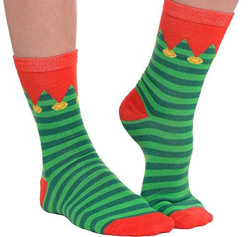 Elf Crew Fabric Socks, 1 pair | Christmas ()