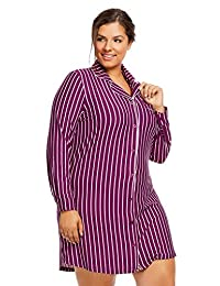 Gloria Vanderbilt Women's Button-Down Sleep Shirt | Stylish Pajama Top