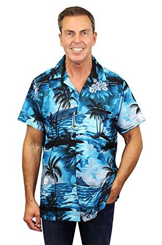 New Xxl Aloha Hawaiian Shirt (Funky Hawaiian Shirt, New Surf, darkturquoise, XXL)