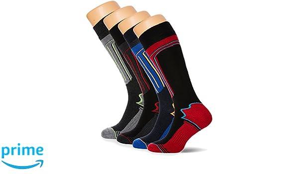 FM London Thermal Ski Socks Multipack, Calcetines Altos para Hombre, Multicolor (Assorted), Talla única (Talla del fabricante: 6-11…